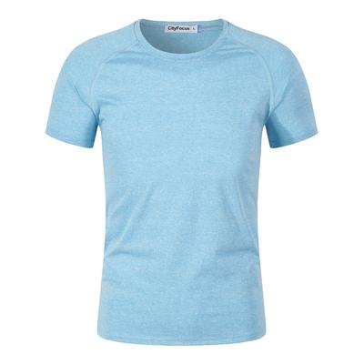 阳离子男式瑜珈服运动短袖T恤